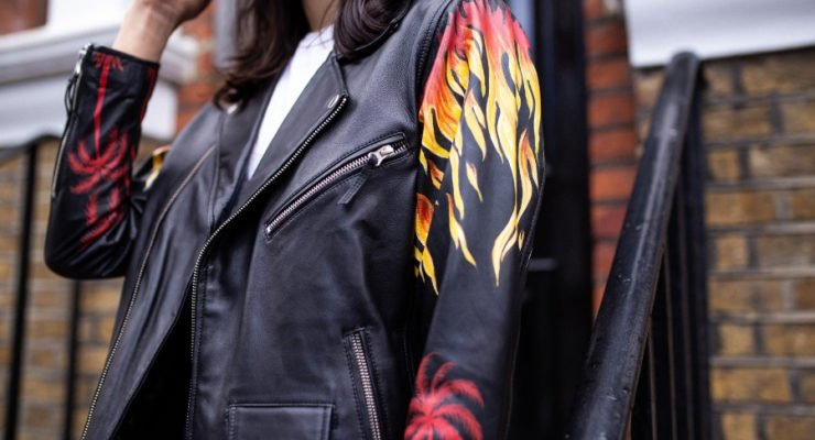 The Letter on Fire leather jacket